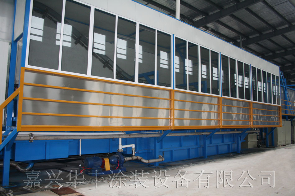 工程机械车轮喷漆线电泳槽